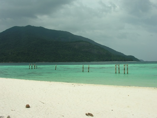 A stormy Ko Adang as seen from Ko Lipe.