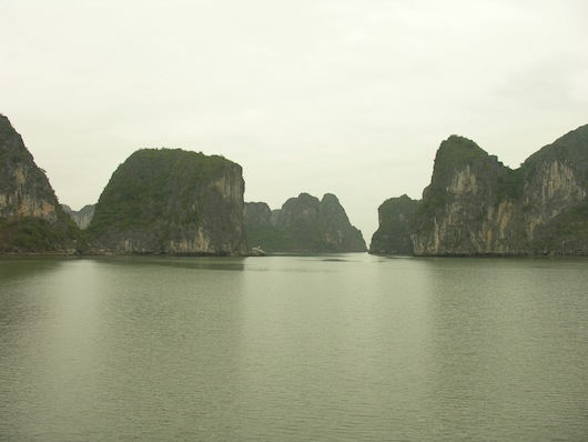 "In this corner, one of the region's most popular destinations -- Vietnam's ""descending dragon"" -- Ha Long Bay!"