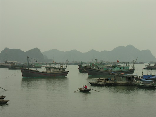 Scenic fishing villages like this one at Cat Ba island are tough to beat.