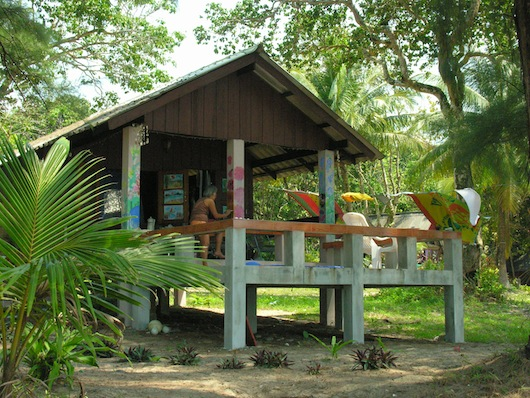 A plain bungalow becomes a work of art, at Cashew Resort.