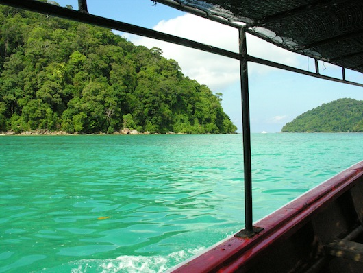 Heading out for another 200B snorkeling trip via one of the national park's boats.
