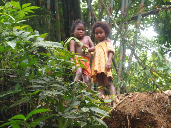 Orang Asli kids from the Batek (Negrito) people.