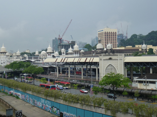 So near and yet so far, Kuala Lumpur station from Pasar Seni.