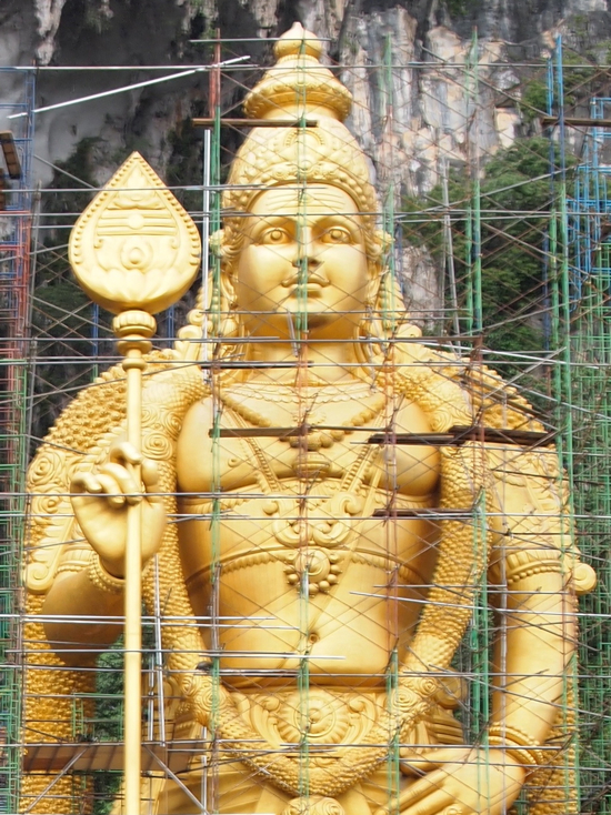 Lord Murugan with his sacred spear.