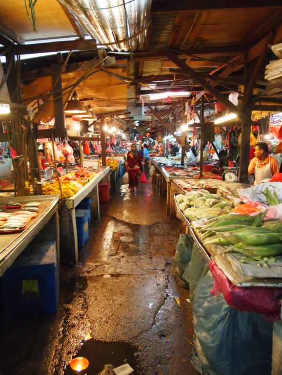 It's called a wet market for a reason.