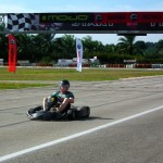 Whiz past the finish line in a 220 cc go-kart!