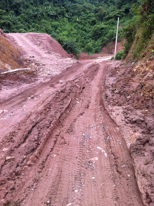 Mud on the road to Phongsali