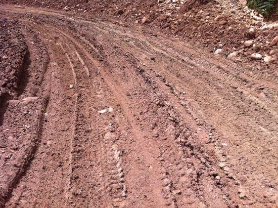 The condition of the road to Phongsali is generally extremely poor