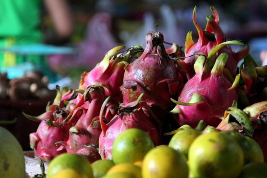 Exotic fruits abound at the Phousi Market