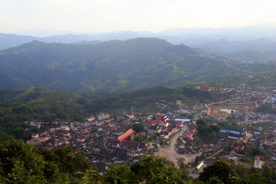The view from Phou Fa of Phongsali