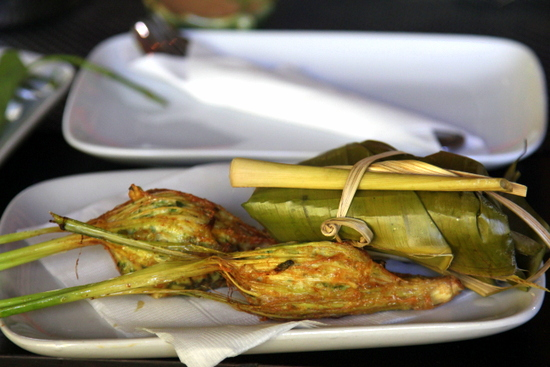 Stuffed lemongrass is a dish that looks simple but requires a basket weaving degree to master