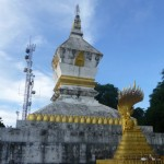 Modern telecommunications meets old stupa