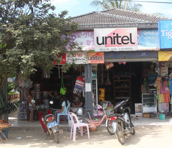 Typical shop selling Unitel