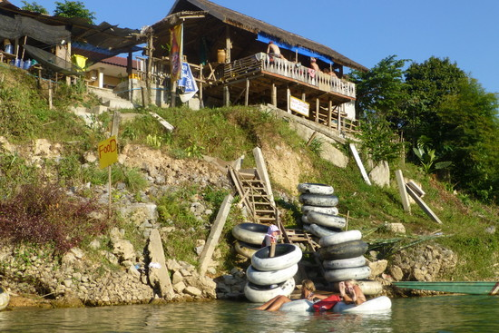 This is the last formal place to grab a drink along the river - SCK Guesthouse