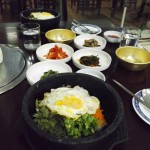 Stone Pot Bibimbap with Side Dishes