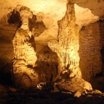 Incredible formations inside Konglor Cave.