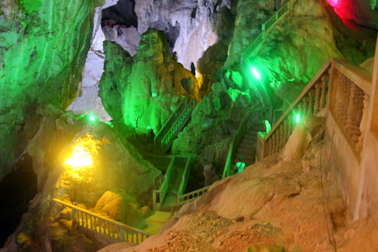 One the illuminated caves which boggles the mind.