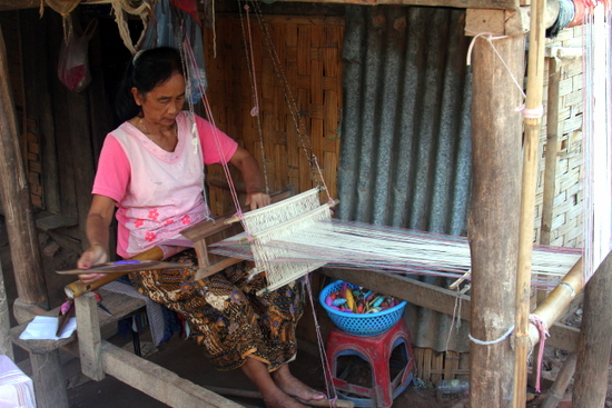 One of the many local industries around Luang Prabang.