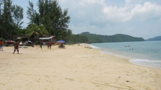 The official beginning of Tengah Beach.