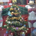 Nothing says Merry Christmas better than bikini clad mannequins.