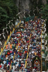 Thaipusam traffic jam.