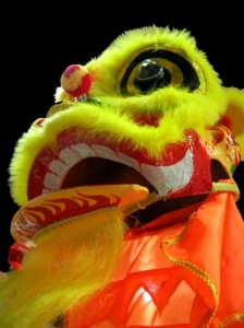 Lion dances take place throughout Penang over Chinese New Year.