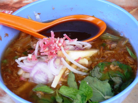 Penang Laksa, also known as Asam Laksa