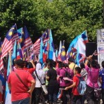 A rally in support of Malaysian forces