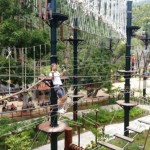 Monkeying Around, one of the park's main attractions, provides a great workout.