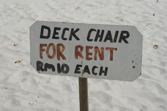 In case you opt for just chillin' at the beach.