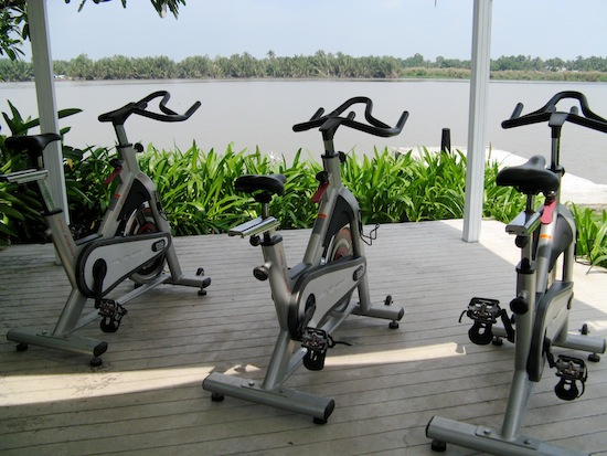 Now, that's my kind of view for a spin class.