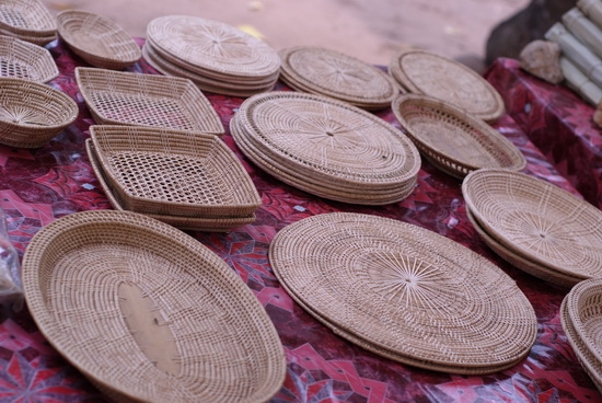 Lpeak handicrafts made by women from all over Siem Reap