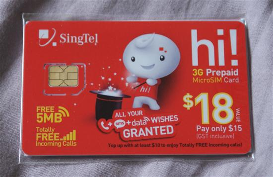 A rarer species - the Singaporean prepaid micro SIM.