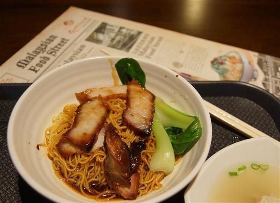 KL wanton mee: a little different than its Singapore cousin