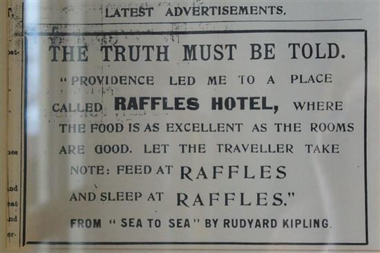 Rudyard Kipling liked it - but his steak dinner probably didn't cost $200!