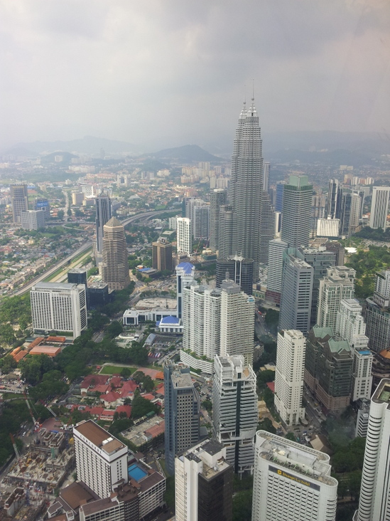 Considering our route, from the top of KL Tower.