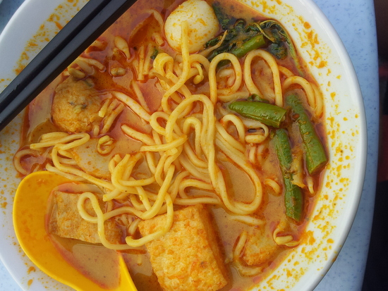 Curry Mee: INTO MY FACE, MEE.