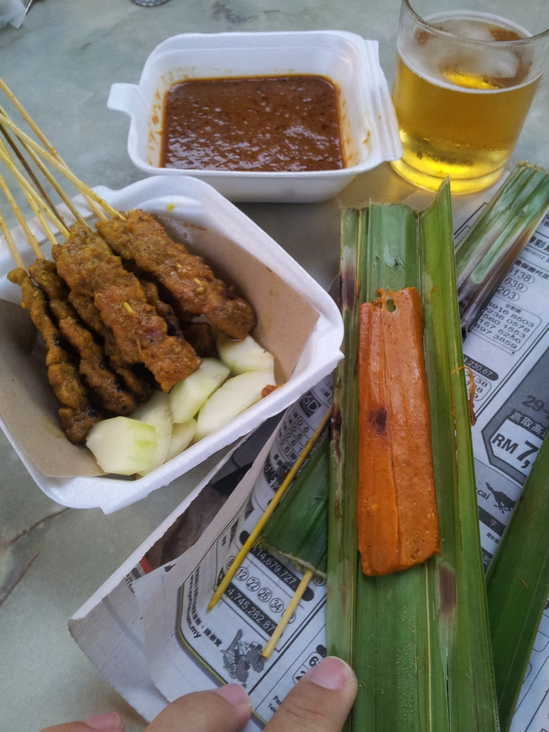 Satay and Grilled Fish Mousse in Malacca