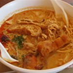 This spicy bowl of seafood laksa could be yours for just S$4.