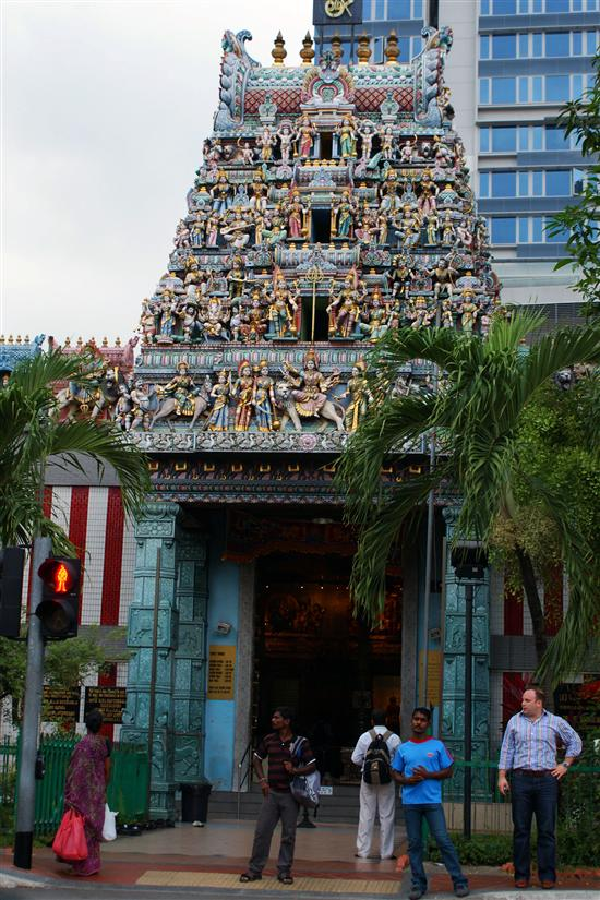 Don't miss this temple in the middle of Little India.