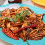 Grilled squid - extra chili!