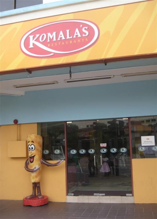 This restaurant in Singapore's Little India has a thosai as its mascot.