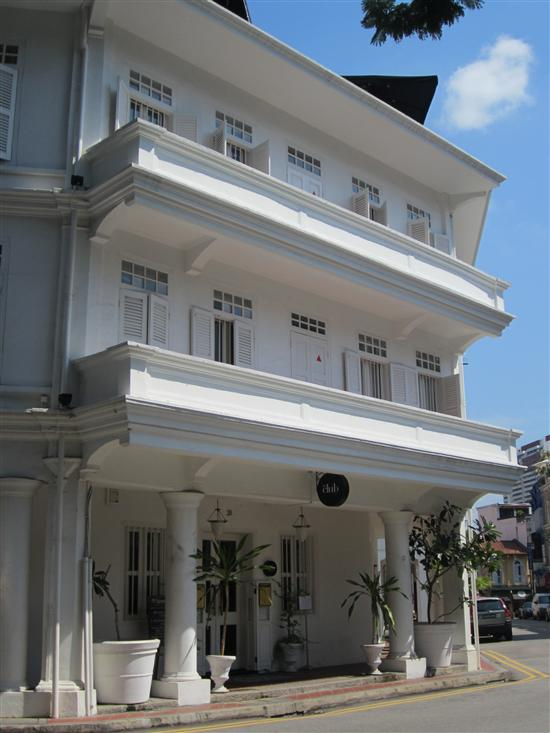 The Club Hotel in Singapore's trendy Ann Siang area.