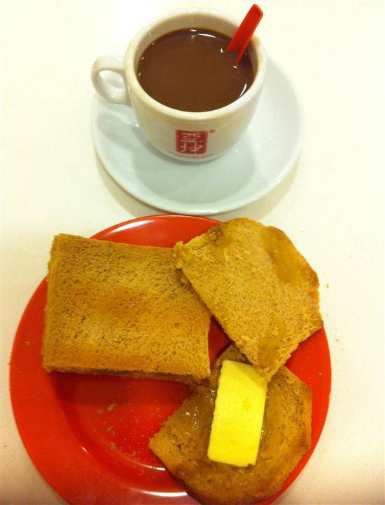 Kaya toast contains your recommended daily limit of sugar and margarine.