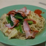Singapore-style wanton mee.