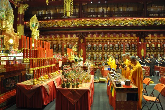At the Buddha Tooth Relic Temple.
