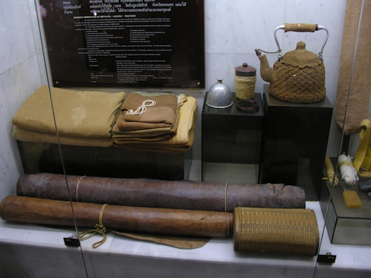 A handful of the objects used by Ajahn Mun.