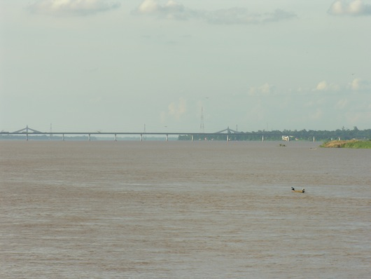 The Thai-Lao Friendship Bridge 2, as seen from Mukdahan.
