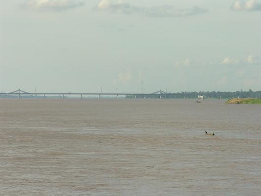 The Thai-Lao Friendship Bridge 2, as seen from Mukdahan.