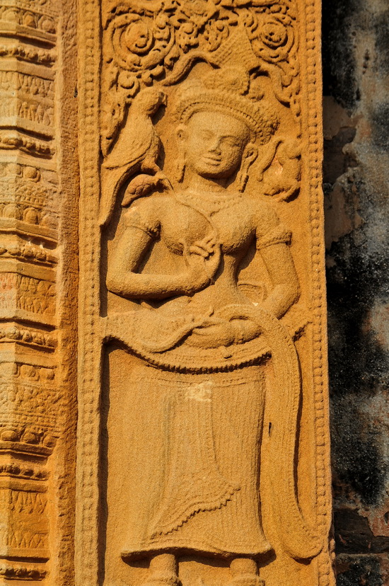 Devata or minor goddess aside the main entrance door
